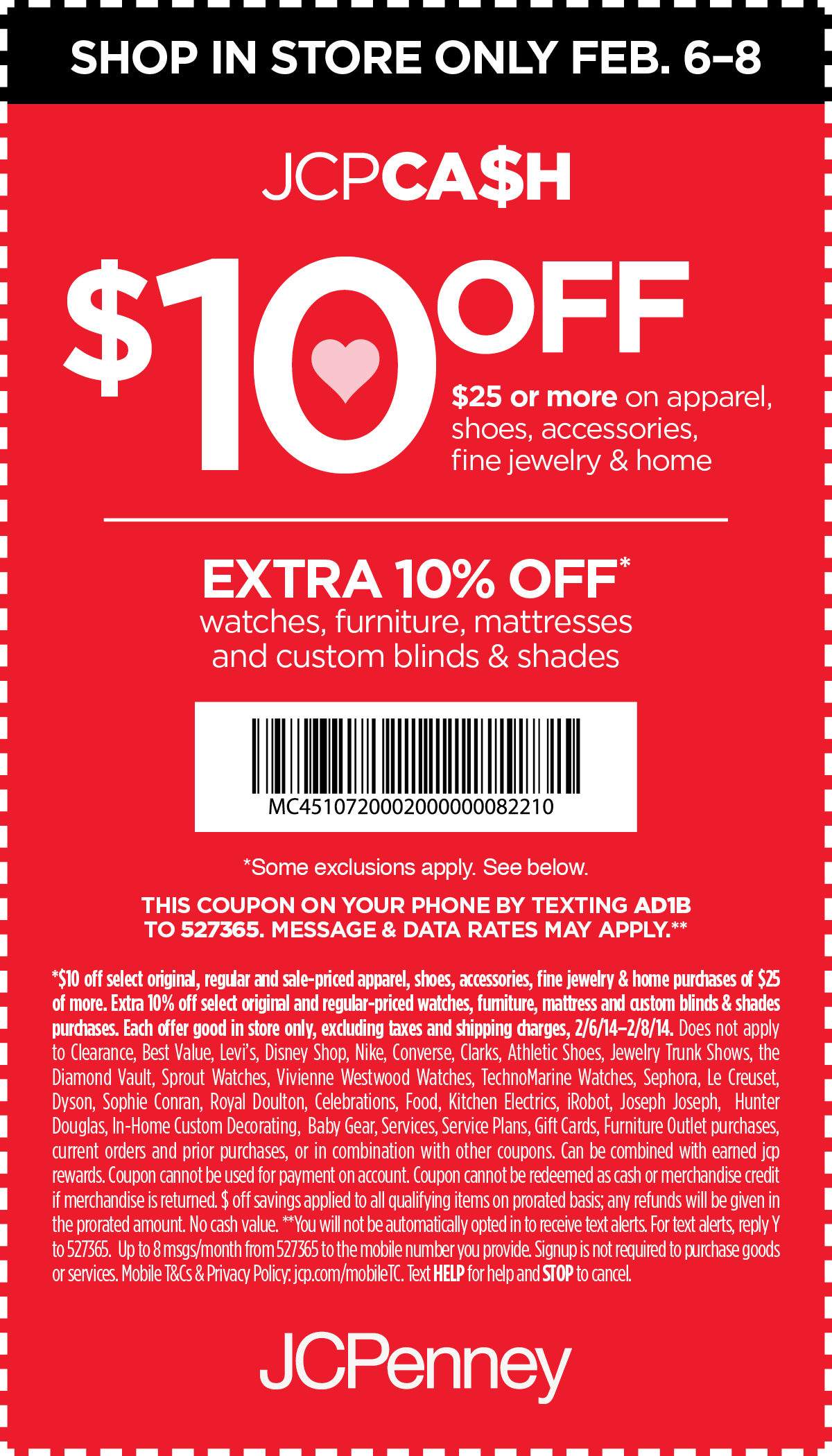 JCPenney Coupons: Save $10 Off $25 February 6